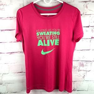 NIKE Dri Fit Pink Tee Shirt